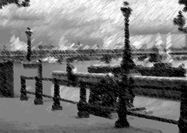 View of Thames Embankment in London